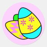 Pegatina brillante de los huevos de Pascua