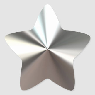 Pegatina brillante de plata