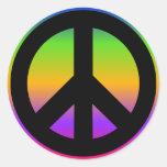 Pegatina brillante del arco iris