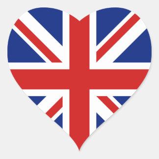 Pegatina BRITÁNICO del corazón de la bandera