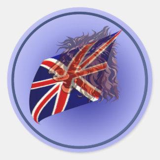 Pegatina británico del león de la bandera n