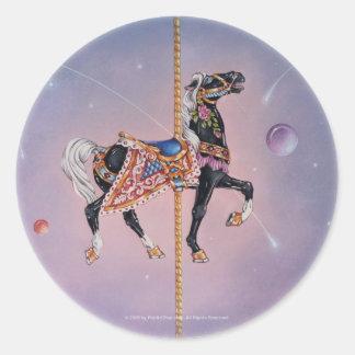 Pegatina - caballo 2 del carrusel de Petaluma