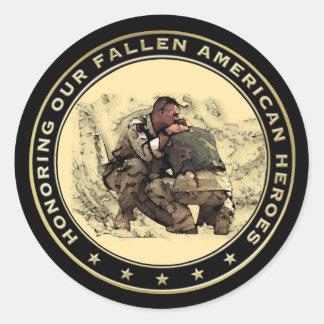 Pegatina caido del día de veteranos de los héroes