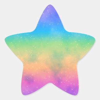 Pegatina caliente brillante del cielo del arco iri