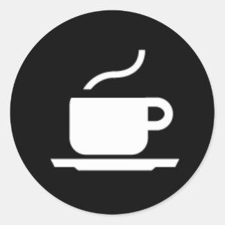 Pegatina caliente de la muestra del café