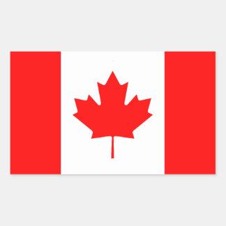 Pegatina canadiense de la bandera
