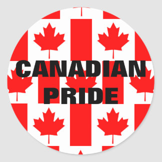 Pegatina canadiense de la bandera del modelo del