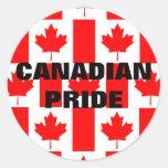 Pegatina canadiense de la bandera del modelo del o