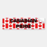 Pegatina canadiense de la bandera del modelo del o etiqueta de parachoque