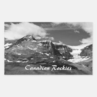 Pegatina canadiense de la montaña del hielo