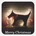 Pegatina canino del paquete del navidad de las Fel