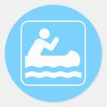 Pegatina Canoeing del símbolo