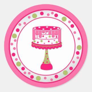 Pegatina caprichoso de la fiesta de cumpleaños de