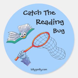 Pegatina-Captura el insecto de la lectura