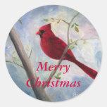Pegatina cardinal del navidad
