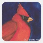Pegatina cardinal rojo