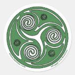 Pegatina céltico del arte, diseño #1 de Triskelion