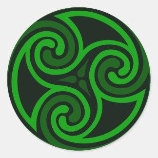 Pegatina céltico del remolino del irlandés