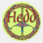 Pegatina céltico del signo de la paz en Galés