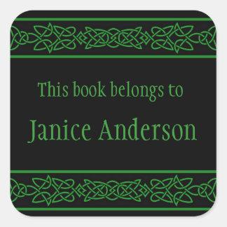 Pegatina céltico personalizado del Bookplate del