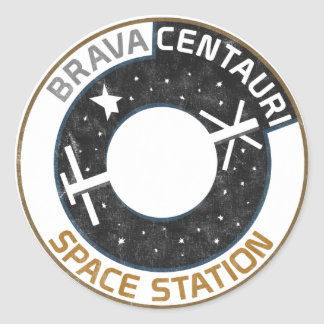 Pegatina Centauri de la estación espacial de Brava