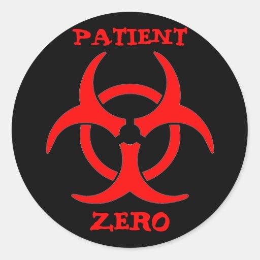 Pegatina cero del Biohazard del paciente