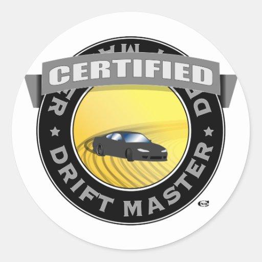 Pegatina certificado deriva