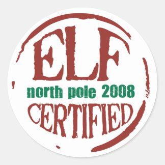 pegatina certificado duende del sello
