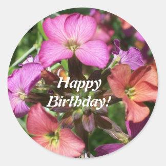 Pegatina 'Cheer constante del feliz cumpleaños