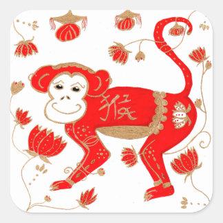 Pegatina chino de la astrología del mono