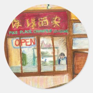 Pegatina chino de la cocina (lugar Seattle de