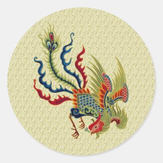 Pegatina chino del diseño del arte del gallo