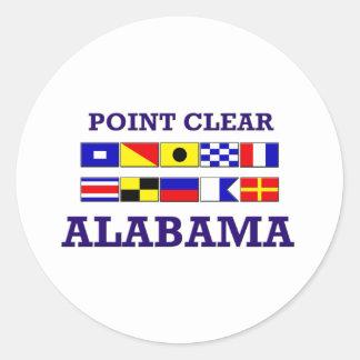 Pegatina claro de las banderas del punto