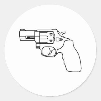 Pegatina claro del revólver del desaire
