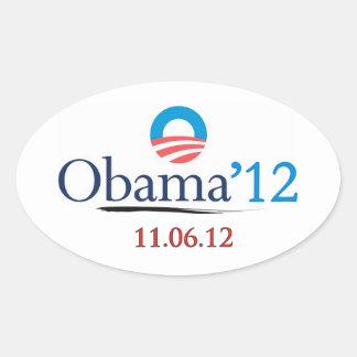 Pegatina clásico del óvalo de Obama 2012