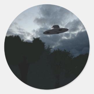Pegatina clásico del platillo volante