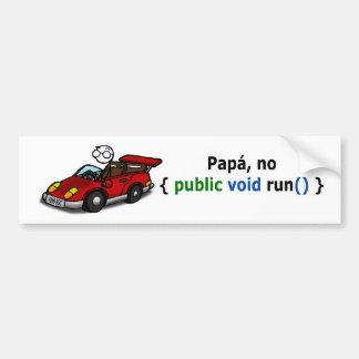 Pegatina coche - Para papás programadores... Pegatina Para Auto