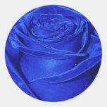 Pegatina color de rosa azul