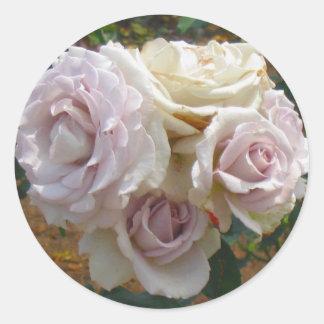 Pegatina color de rosa de la bola de la flor del