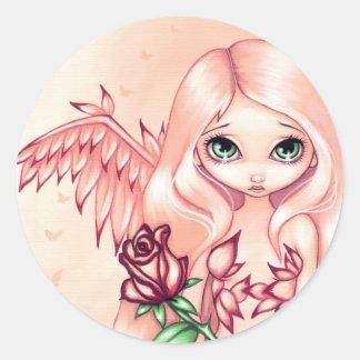 Pegatina color de rosa pálido