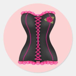 Pegatina color de rosa rosado negro del club del c