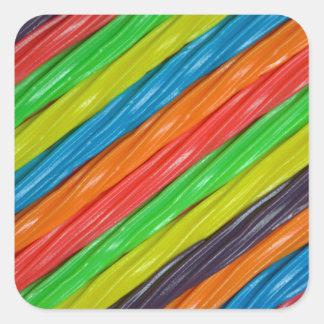 Pegatina coloreado arco iris de la impresión del