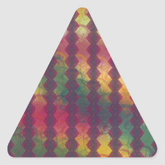 Pegatina coloreado multi del triángulo del modelo