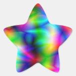 Pegatina colorido de la estrella de la abstracción