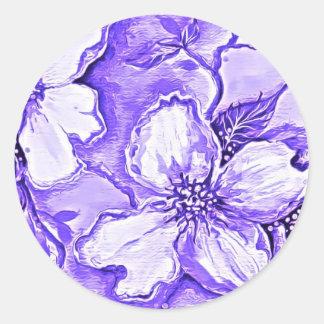 Pegatina colorido de la flor de la magnolia