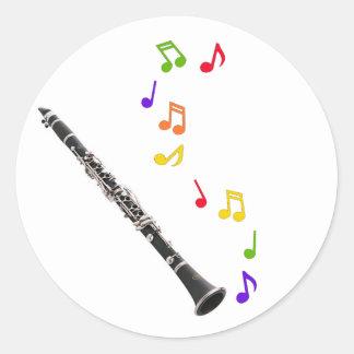 Pegatina colorido de la música del Clarinet