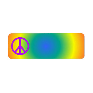 Pegatina colorido de la paz del remite etiquetas de remite