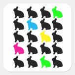 Pegatina colorido de los conejitos