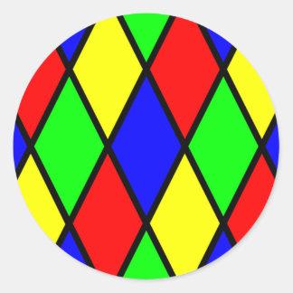 Pegatina colorido de los diamantes