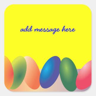 Pegatina colorido de los huevos de Pascua